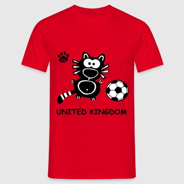 Catpaw Cat Cats Comic United Kingdom Katze EM WM - Herre-T-shirt