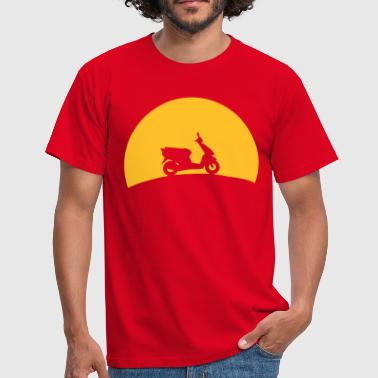 Scooters in the sunset  - Men's T-Shirt