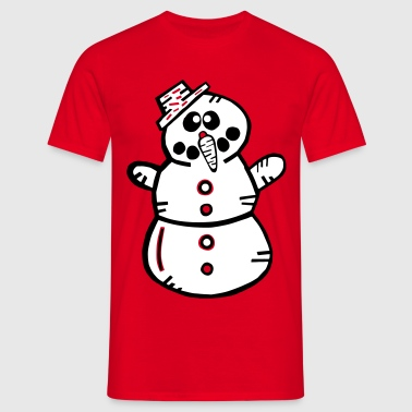 Snowman Winter Santa Claus Snow - Mannen T-shirt