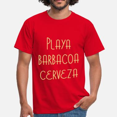 Friends Amis Ami Friend Amigo Amiga Playa Barbacoa Cerveza - Men's T-Shirt