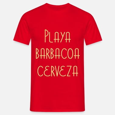 Cerise Playa Barbacoa Cerveza - Men's T-Shirt