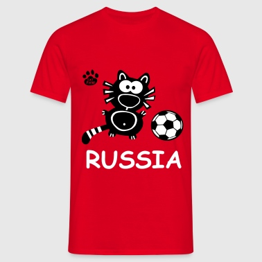 Catpaw Design Kater Katze Russia Fun Party Cool  - T-shirt herr