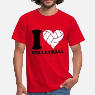 I Love I love Volleyball - Männer T-Shirt
