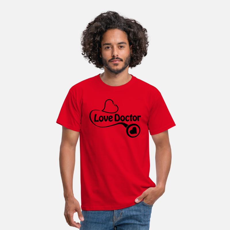 Doctor T-Shirts - the love doctor - Mannen T-shirt rood