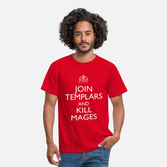 "Fantasy T-Shirts - ""Join Templars"" Design - Men's T-Shirt red"