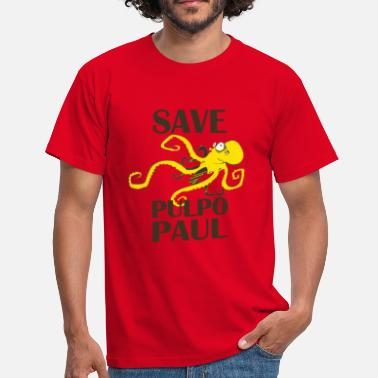 Rouge Save Pulpo Paul T-shirts - T-shirt Homme