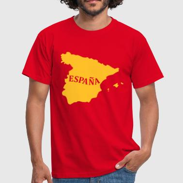 Karte Spanien, Spain, Map - Männer T-Shirt