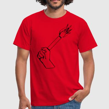 Pyrotechnics Football  - Men's T-Shirt