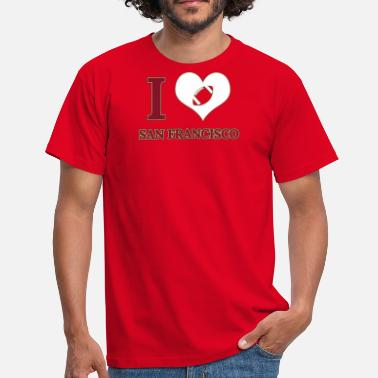 I Love San Francisco Ik hou van San Francisco - Mannen T-shirt