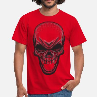 Dot dot Skull - T-skjorte for menn