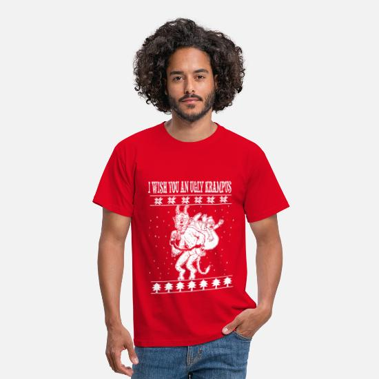 Moches De Noël T-shirts - Ugly krampus - T-shirt Homme rouge
