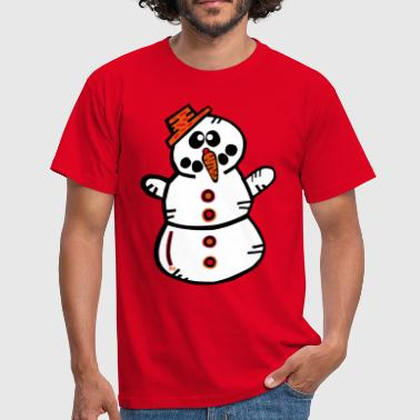 Winter Snowman Winter Santa Claus Snow - Mannen T-shirt