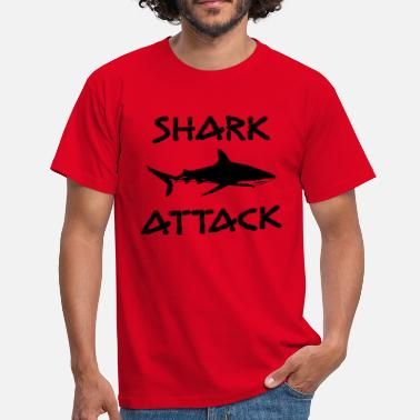 shark attack - Männer T-Shirt