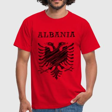 Albania, scribble black - T-shirt Homme