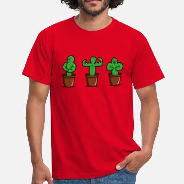Funny Gym cactus with muscles - Men's T-Shirt