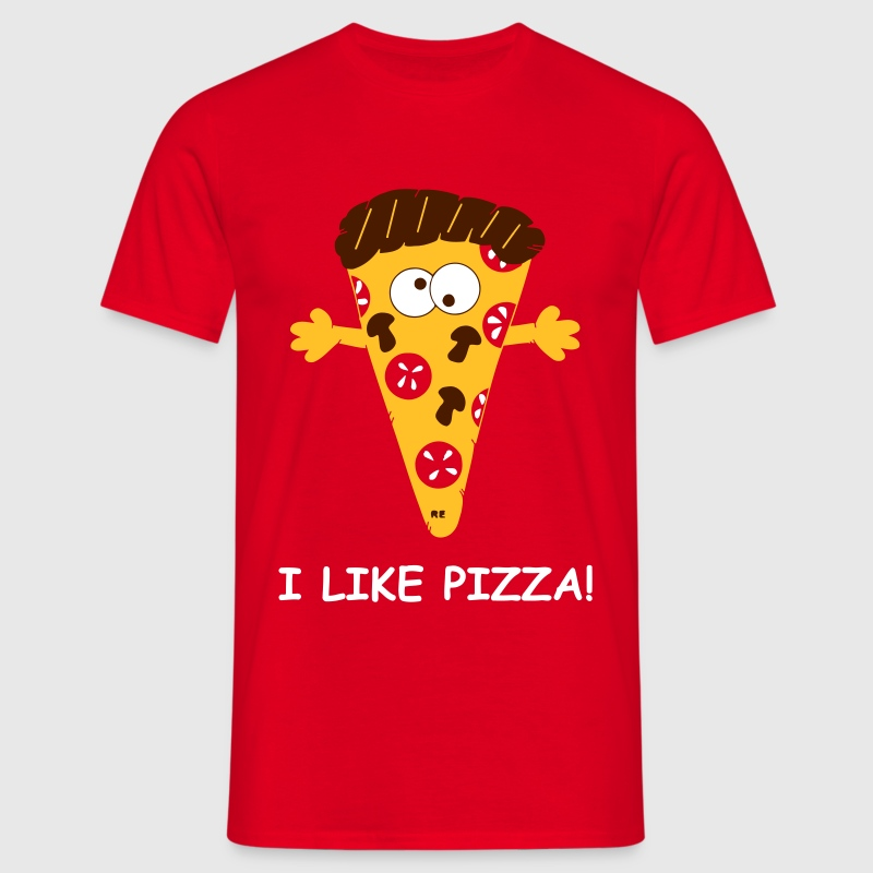 I like Pizza Statement Food USA Italien Essen Cook - Männer T-Shirt