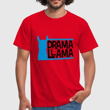 blue bars text logo drama llama party cool celebration - Men's T-Shirt