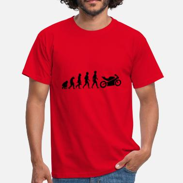 Motorbike Evolution motorcycle moped motorcycle motorbike evolution5 - Men's T-Shirt