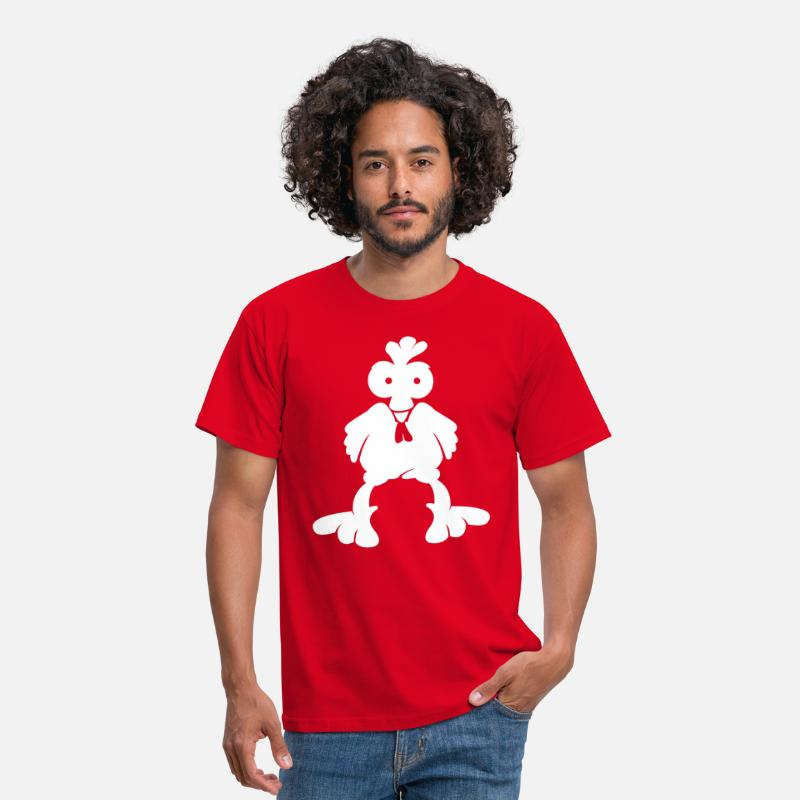 Animal T-Shirts - Black cock Agro  - Men's T-Shirt red