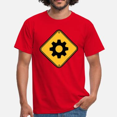 Ingenieur Gear hazard shield zone Attentie technicus Mecha - Mannen T-shirt