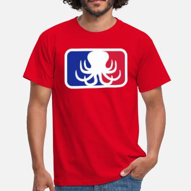 Kraken sport logo octopus octopus octopus squid tentacle - Men's T-Shirt