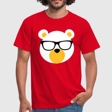 Bear with Glasses - Men's T-Shirt