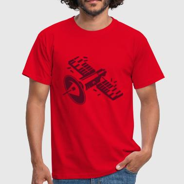 A satellite in orbit - Men's T-Shirt