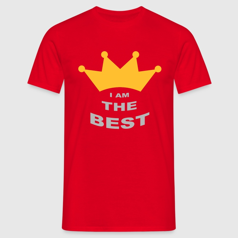 Rouge I'am the best T-shirts - T-shirt Homme