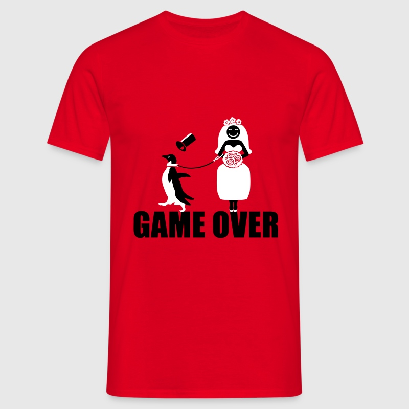 Game Over Pinguin - Männer T-Shirt