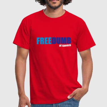 Freedumb of speech - T-shirt herr