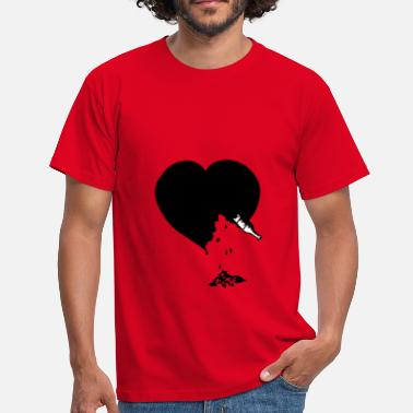 Destroyed destroyed heart - T-shirt Homme