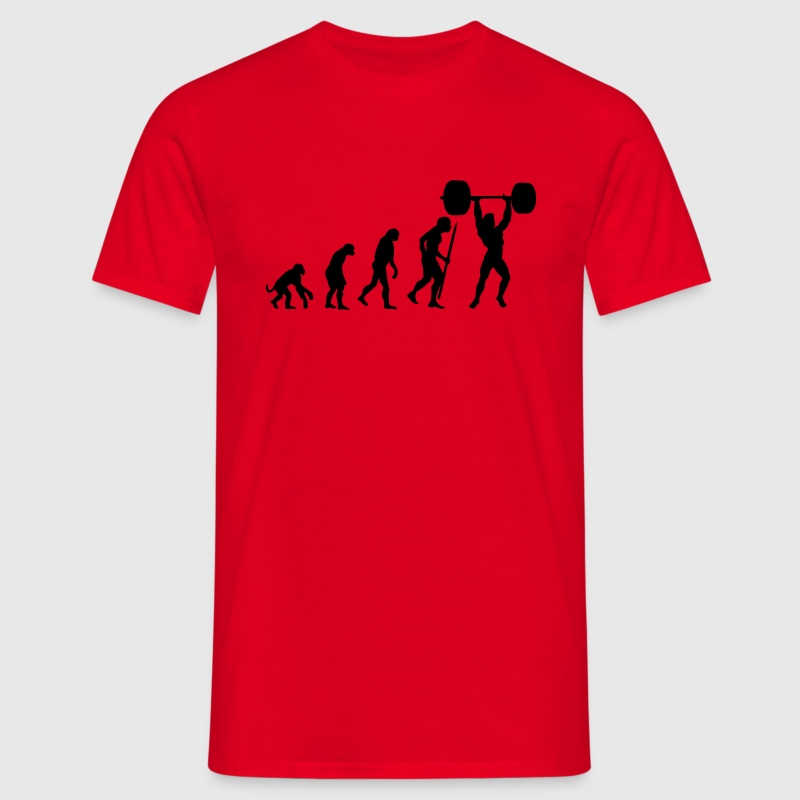 Evolution of pumping iron - Men's T-Shirt