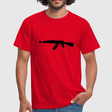 AK47 assault rifle silhouette - Men's T-Shirt