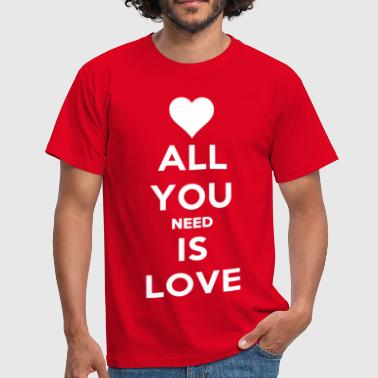 Yellow All you need is love  - Men's T-Shirt