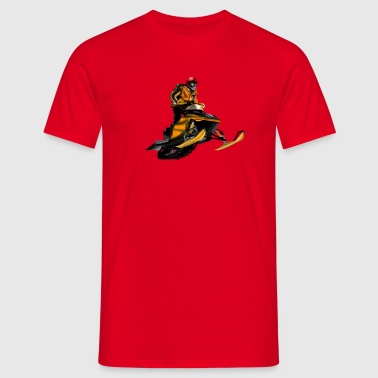 snowmobile racing - Men's T-Shirt