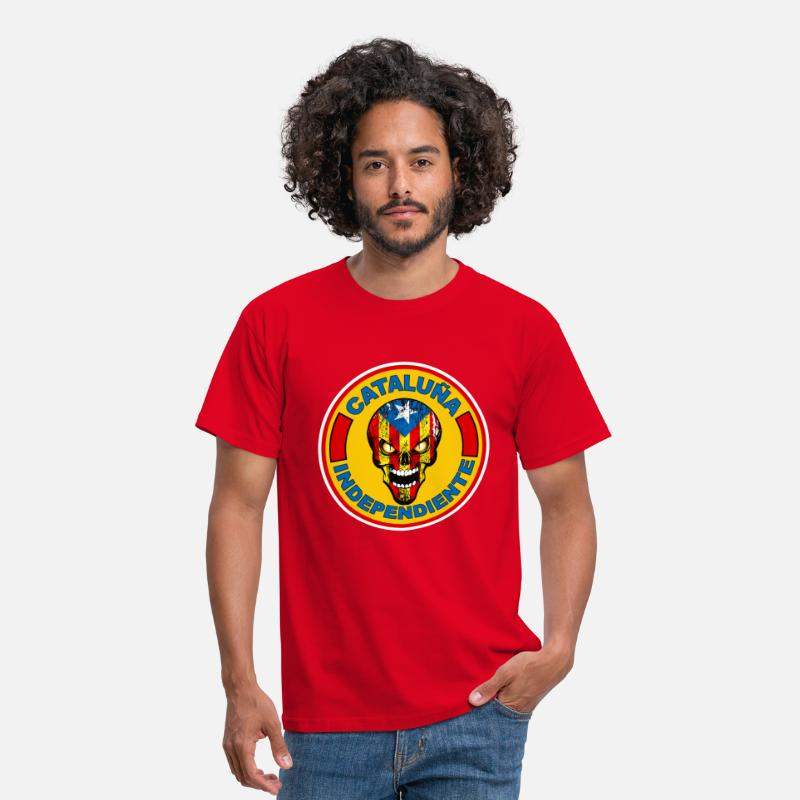 Catalan T-shirts - CATALOGNE INDEPENDANTE - T-shirt Homme rouge
