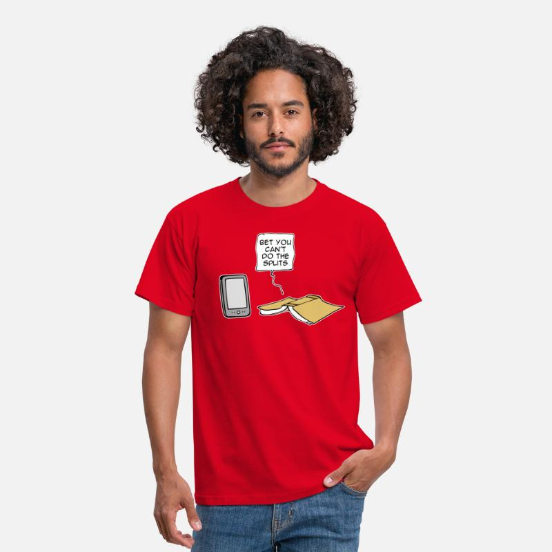Book T-Shirts - Bet you can't do the splits - Men's T-Shirt red