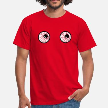 Titten Smiley monster eyes augen halloween horror - Männer T-Shirt