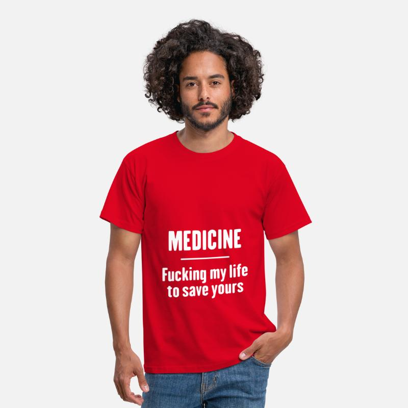 Médecine T-shirts - Medicine - Fucking Life - T-shirt Homme rouge