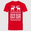 Ugly Christmas Sweater QR Code Happy New Year! - Men's T-Shirt