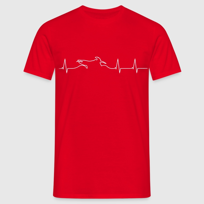 Enduro heartbeat  - Men's T-Shirt
