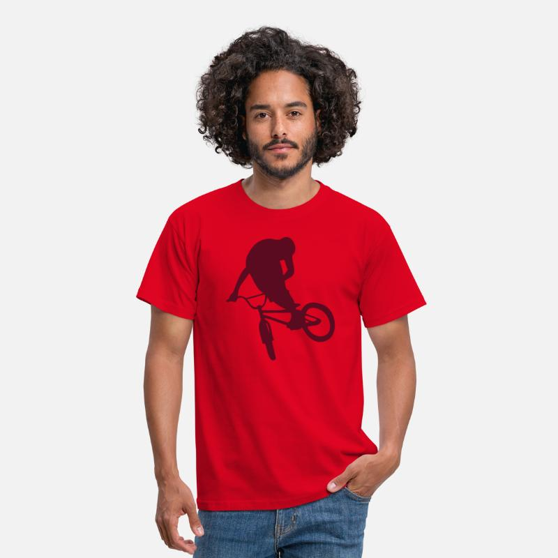 Bike T-shirts - BMX Freestyle - T-shirt Homme rouge