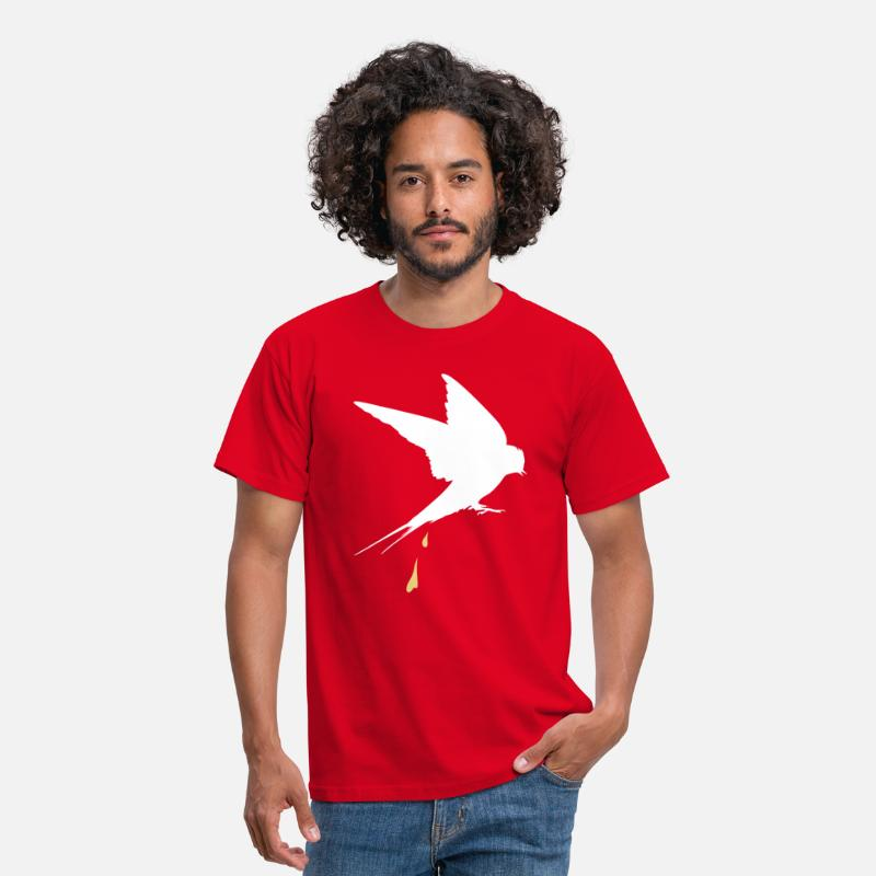 Poop T-Shirts - Shit end swallow  - Men's T-Shirt red
