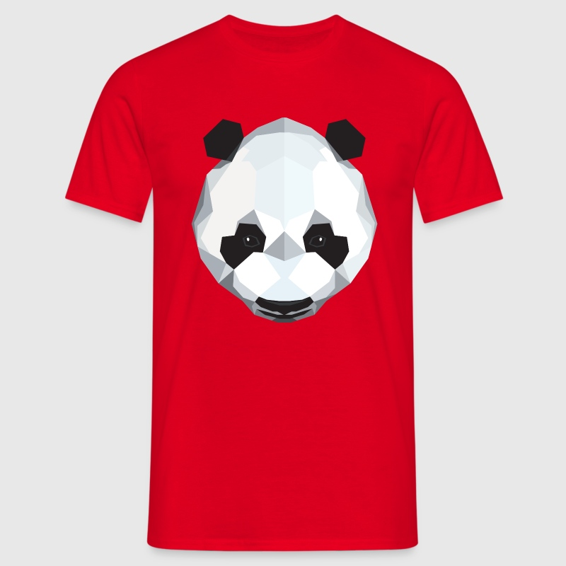 Panda (Low Poly) - T-shirt Homme