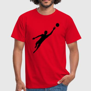 Jump Shot Goalkeeper Torhueter Keep Soccer Goal Goal Sp - Men's T-Shirt