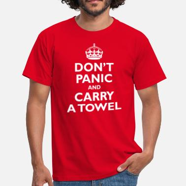 Douglas Adams keep_calm_hgttg - Men's T-Shirt