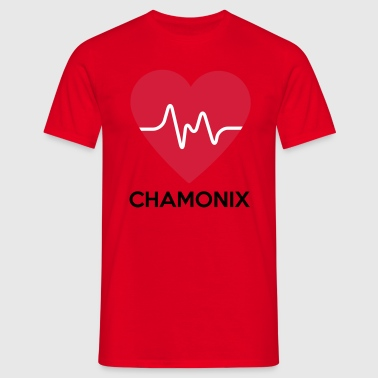 heart Chamonix - Men's T-Shirt