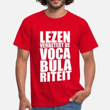 Vocabulariteit - Mannen T-shirt