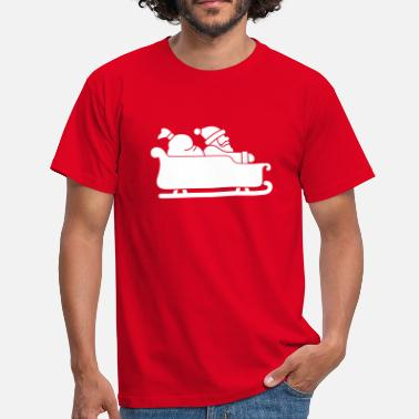 Comic-elch Christmas - Sleigh - Men's T-Shirt