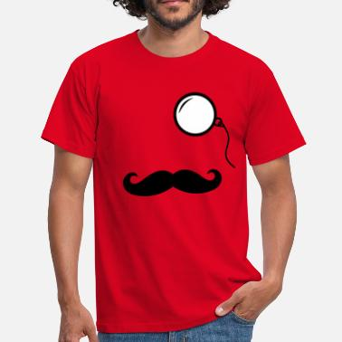Mustache Like a Sir - Männer T-Shirt